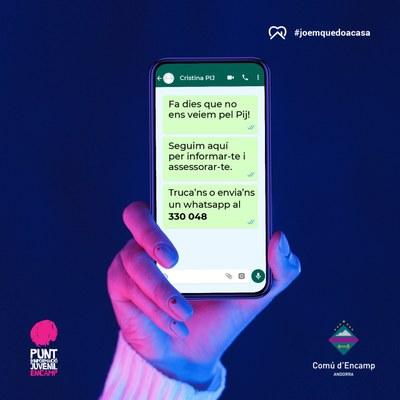 Assessorament per a joves i les seves famílies a través de whatsapp i mòbil