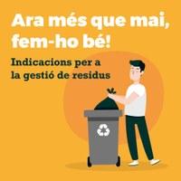 Indicacions per a la gestió de residus