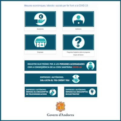Mesures econòmiques laborals i socials. Govern d'Andorra