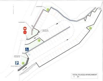 Comencen les obres del nou aparcament del Prat de la Nostra Senyora a Les Pardines