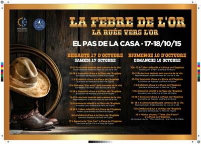 'La febre de l'or' arriba al Pas de la Casa el 17 i 18 d'octubre