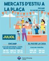 """""""Mercats d'estiu a la plaça"""" artesania i comerços locals aquest cap de setmana al centre d'Encamp"""