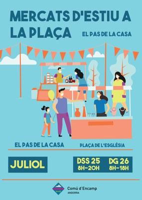 """""""Mercats a la plaça"""" artesania i comerços locals aquest cap de setmana al Pas de la Casa"""