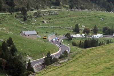 Afectacions a Encamp pel pas de La Vuelta
