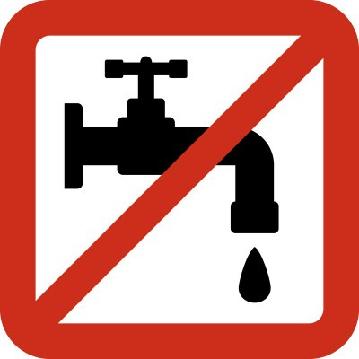 Avís per tall d'aigua urgent!