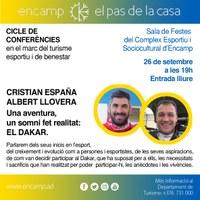Cristian España i Albert Llovera, pròxims ponents al cicle de conferències en el marc del turisme esportiu i de benestar