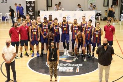 El Barça de bàsquet guanya el II Trofeu Vila d'Encamp contra el MoraBanc Andorra