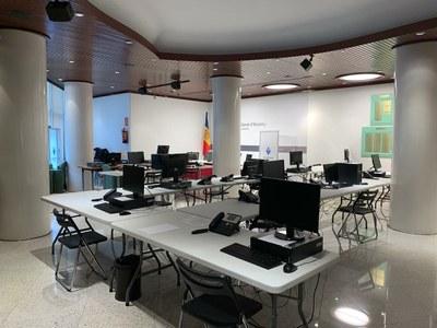 El Centre de Trucades d'Encamp ja està enllestit amb 28 persones per fer les inscripcions del test immunològic a partir de dimecres vinent