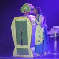 un moment del musical infantil de la bella i la bèstia. @ANA