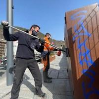 El Comú d'Encamp és indemnitzat amb 18.491,11 euros per les pintades de la matinada de diumenge