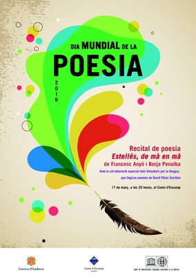 El Comú d'Encamp i el Servei de Política Lingüística celebren el Dia de la poesia amb la proposta Estellés, de mà en mà i un recital d'obres de David Pérez