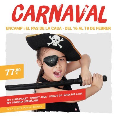El Comú d'Encamp obre les inscripcions per a l'Àrea de jovent d'Encamp i del Pas de la Casa durant les vacances de Carnaval