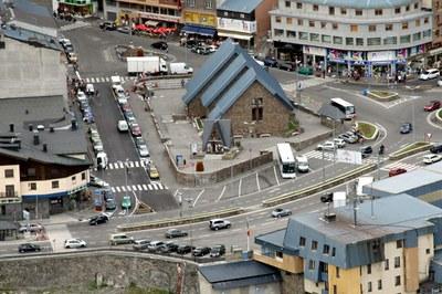El Comú d'Encamp informa del tall dels carrers Pere d'Urg i Comtes de Foix del Pas de la Casa amb motiu del Concurs d'Escultures de Neu