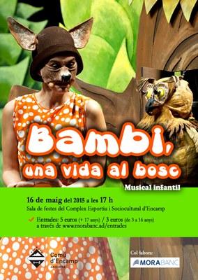 El Comú d'Encamp posa a la venda les entrades pel musical infantil 'Bambi, una vida al bosc'