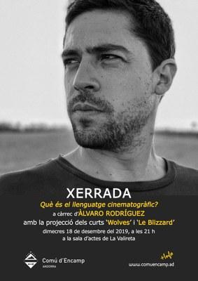 El jove director encampadà Àlvaro Rodríguez presentarà els seus curtmetratges 'Wolves' i 'Le Blizzard' aquest dimecres a Encamp