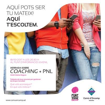 El Punt d'Informació Juvenil d'Encamp acollirà una xerrada sobre 'Coaching i PNL'