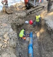 Reparació de la fuita d'aigua. Diumenge 29 de març de 2020