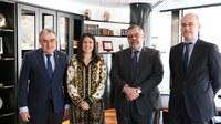 Els cònsols d'Encamp reben l'ambaixador espanyol, Àngel Ros