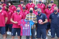 Recepció FC Barcelona handbol a Encamp