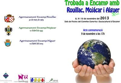 Encamp commemorarà l'agermanament amb les viles de l'Alguer, Mojácar i Rouillac amb una trobada