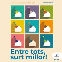 """""""Entre tots, surt millor"""", la campanya per informar als ciutadans del dispositiu de treta de neu a la parròquia"""