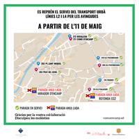 mapa parades bus avingudes