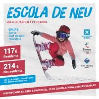 L'escola de neu obre el termini d'inscripcions a partir del proper dilluns 25 de gener
