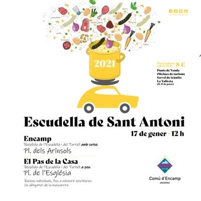 "Escudella de Sant Antoni en versió ""StopLab"" per adaptar-se a la pandèmia"