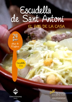 Escudella de Sant Antoni, la recepta d'aquesta diumenge al Pas de la Casa