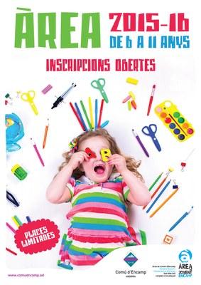 Inscripcions obertes per a l'Àrea de Jovent 2015-16