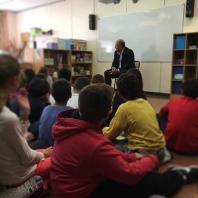 Jordi Torres visita els alumnes de tercer cicle de l'Escola Andorra de Primera Ensenyança d'Encamp