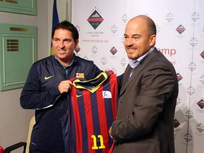 L'equip de bàsquet FC Barcelona inicia la seva pretemporada a Encamp