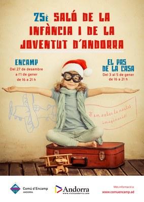 La 25a edició del Saló de la Infància i de la Joventut d'Andorra a Encamp i el Pas de la Casa obrirà les portes el 27 de desembre