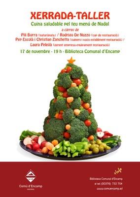 """La biblioteca d'Encamp acull una xerrada-taller sobre """"Cuina saludable pel teu menú de Nadal"""""""