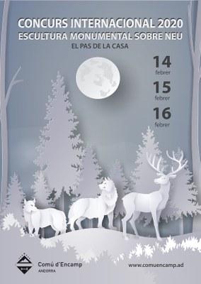 La fauna i la flora, protagonistes del XVII Concurs d'escultures de neu del Pas de la Casa