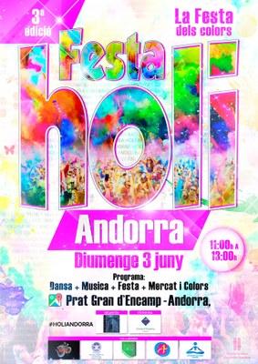 La Festa Holi omplirà Encamp de colors i música aquest diumenge