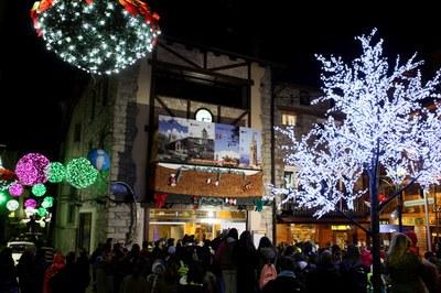 La parròquia d'Encamp encén l'enllumenat de Nadal