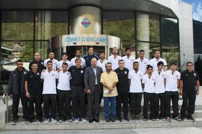 La selecció nacional de futbol sala de Qatar comença a Encamp una estada esportiva