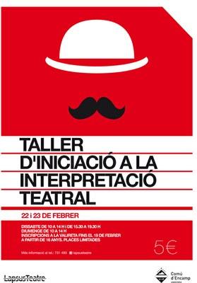 LapsusTeatre organitza un taller d'iniciació a la interpretació teatral a Encamp