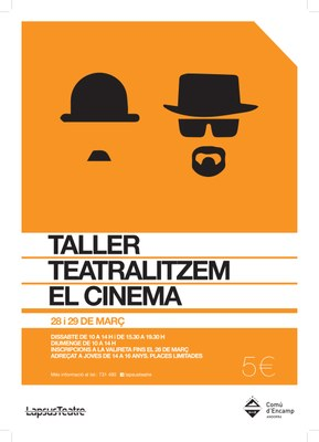 LapsusTeatre organitza un taller de teatralització del cinema adreçat als joves
