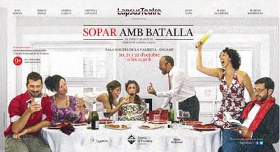 """LapsusTeatre s'aboca a la comèdia negra amb """"Sopar amb batalla"""""""