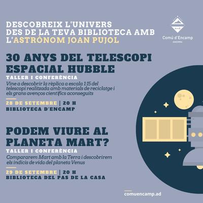 Les biblioteques d'Encamp i el Pas de la Casa ens porten a descobrir l'univers amb l'astrònom i divulgador Joan Pujol