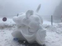 Molt bona participació i alt nivell al Concurs d'escultures de neu al Pas de la Casa