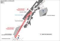 Noves afectacions per les obres de remodelació de les avingudes Joan Martí i François Mitterrand