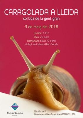 Obertes les inscripcions per a la caragolada a Lleida de la gent gran