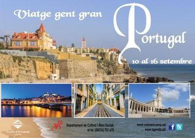 Obertes les inscripcions per a la sortida de la gent gran a Portugal