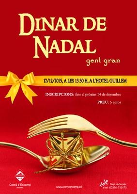 Obertes, les inscripcions per al tradicional dinar de Nadal per a la gent gran