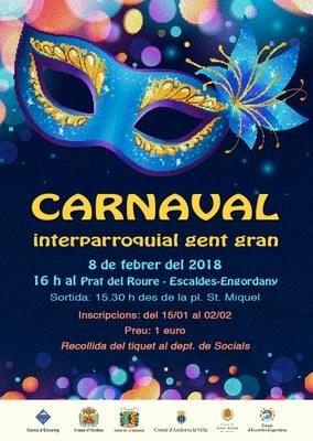 Obertes les inscripcions per participar al Carnaval interparroquial de la gent gran