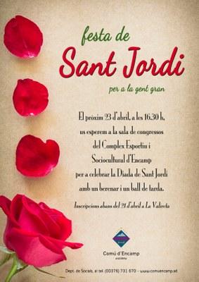 Obertes les inscripcions per participar en la festa de Sant Jordi per a la gent gran