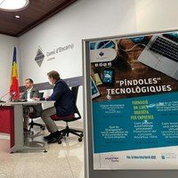 """El Comú d'Encamp presenta les """"píndoles tecnològiques"""", sessions virtuals i gratuïtes per a empreses i comerços, per millorar-ne la competitivitat"""